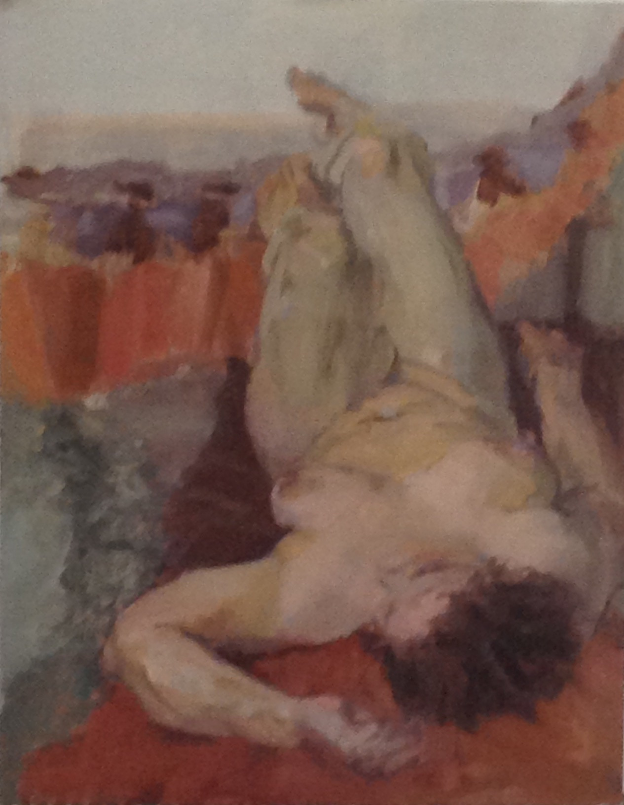Reclining nude oil on canvas