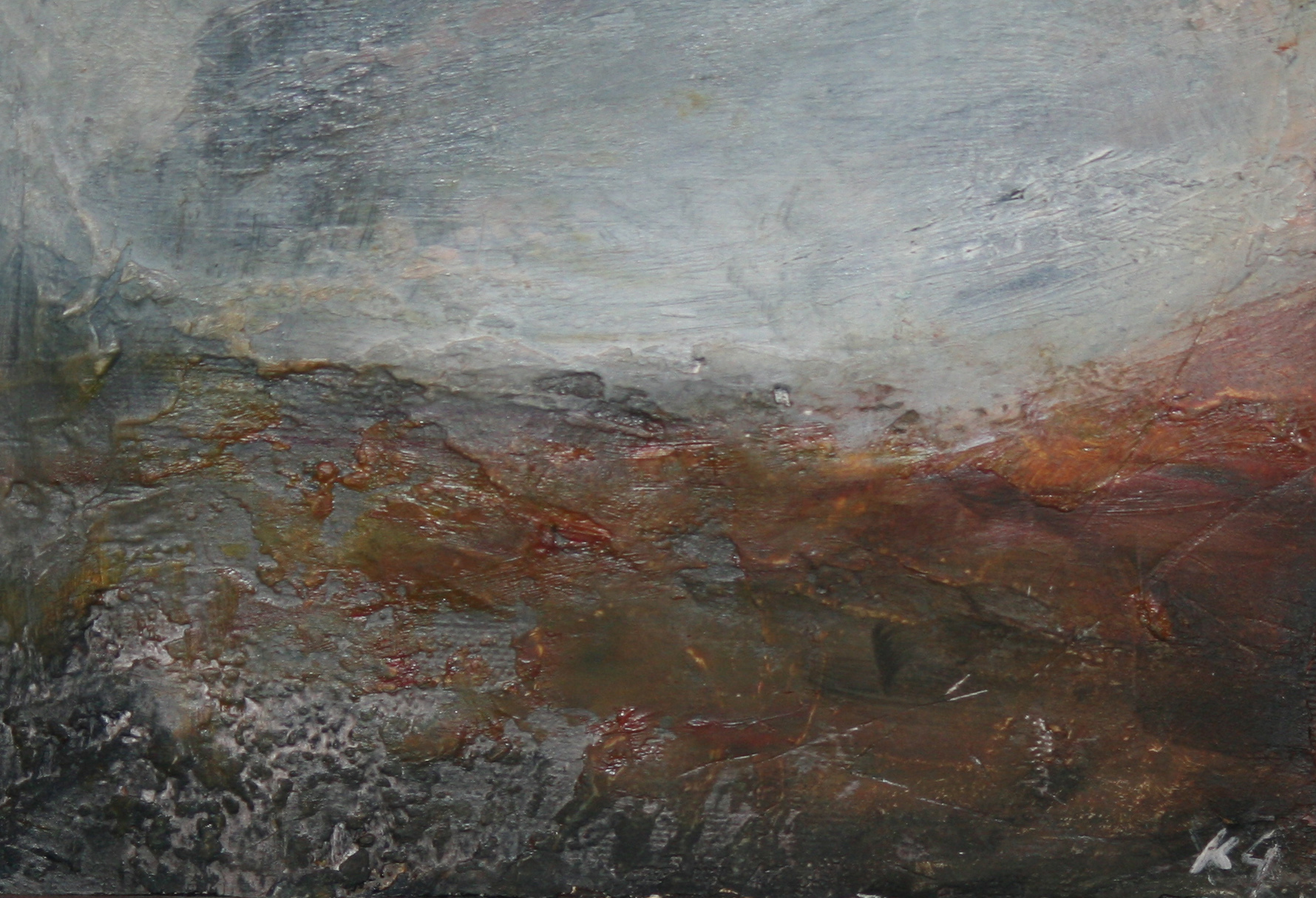 Red Earth <br /> Oil on board 13 x 20 cm